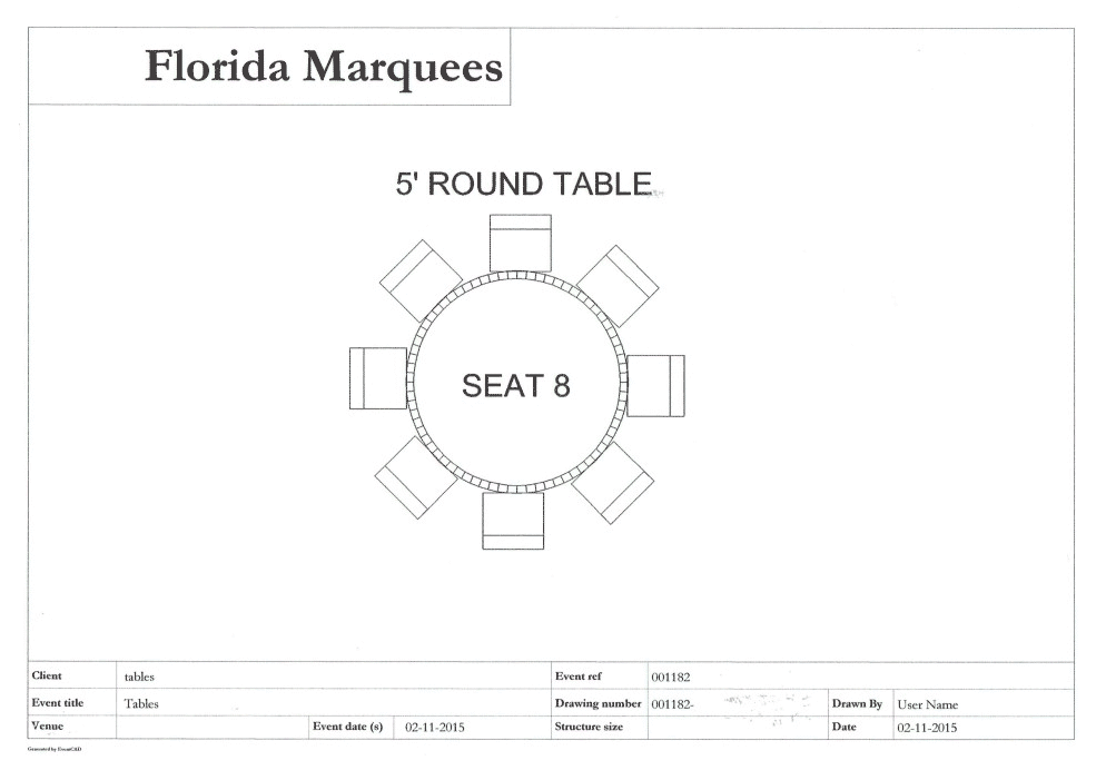 5 Foot Round Table Seats How Many Designs