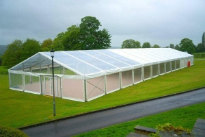 Clear Marquee at Ampleforth College, North Yorkshire