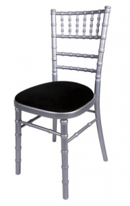 Silver Camelot Silver camelot chair with black seat pad