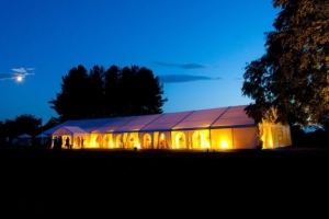 Marquee Hire in York at night