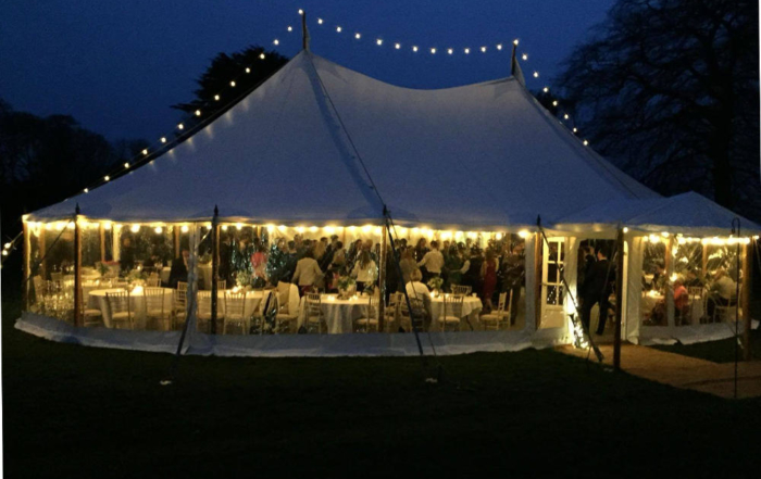 Vintage wedding Pole Marquee Selby
