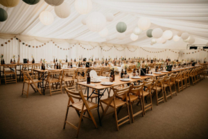 Wold top wedding marquee