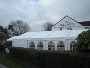 Marquee attached to pub