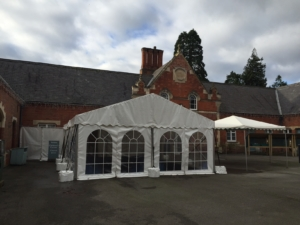Building extension marquee
